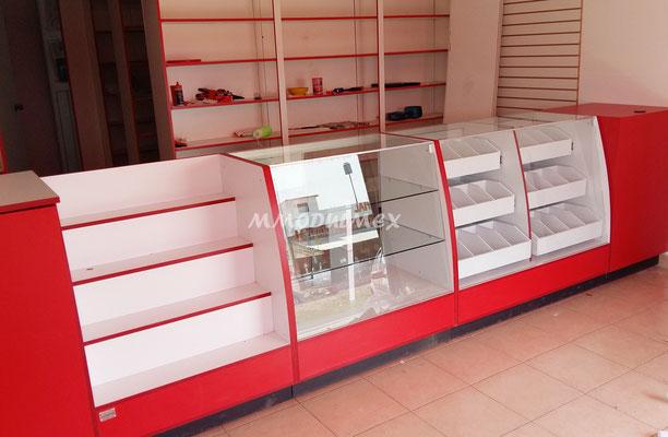 mostradores de madera, vitrinas para farmacia, vitrinas para papeleria, muebles para farmacia, muebles para papeleria, muebles para tiendas