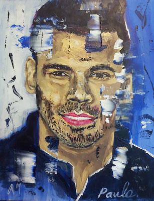 DJ Afro Jack, good music vibes, acryl op papier 40 x 50 cm