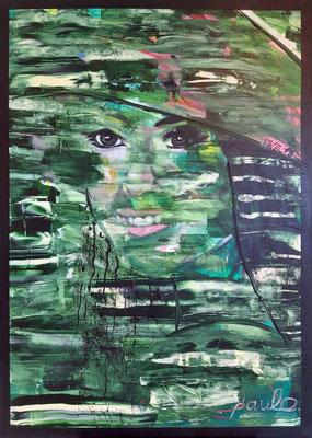 'Vrolijk' Acryl 3D Linnen 100 x 140 cm. prijs op aanvraag