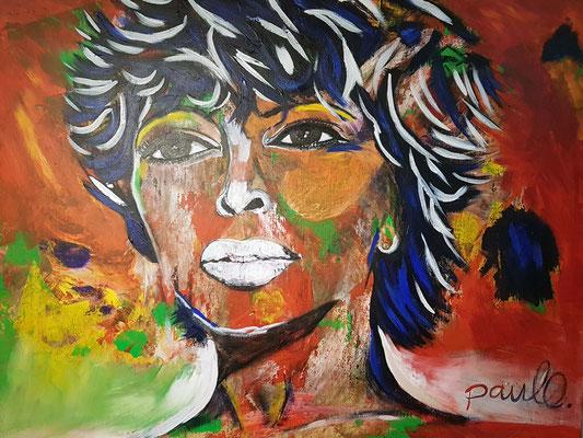 Tina Turner 'Simply the best'.  Acryl / epoxy op linnen 140 x 120 cm. Prijs op aanvraag.