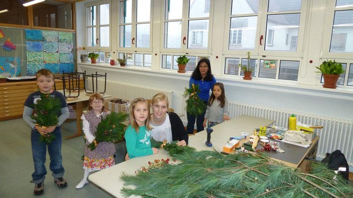 Adventsbasteln Grundschule Buchelberg