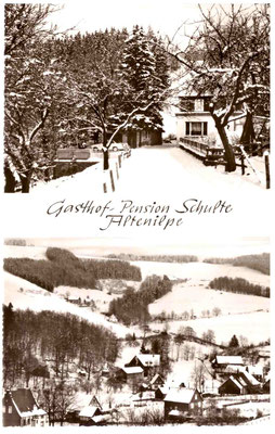 Bild Hermann-Josef Linhoff: Postkarte 1955 Pension Schulte