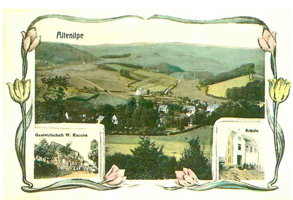 Bild Hermann-Josef Linhoff: Postkarte 1906 Dorf