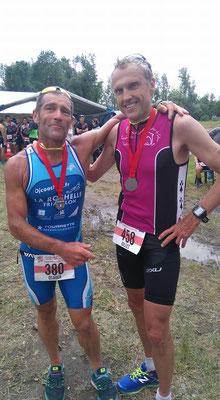 Gilles legoff, 3eme, pas loin derriere qui sera présent sur Hawaii 2016 !!