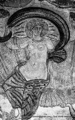 [NB048-1978-20] Guelma (Calama) : Musée - Triomphe d'Amphitrite (Détail)