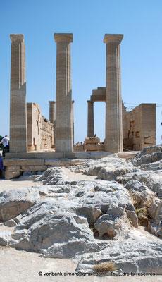 [NU901-2009-0133a] Lindos (Rhodes) : Façade arrière du Temple d'Athéna Lindia