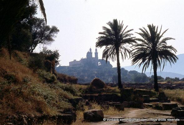 [072-1978-03] Annaba (Hippo Regius) : Basilique Saint-Augustin vue depuis le quartier des villae du front de mer