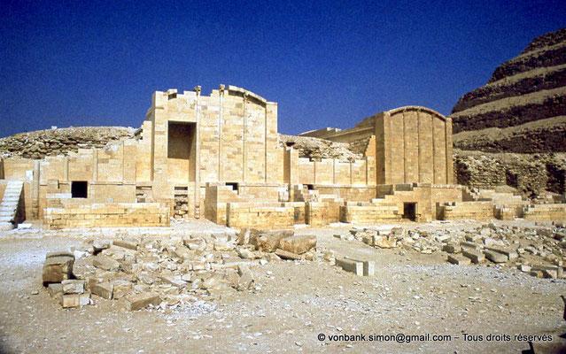 """[087-1973-16] Saqqara - Djoser : Chapelles de la cour du """"Heb-Sed"""""""