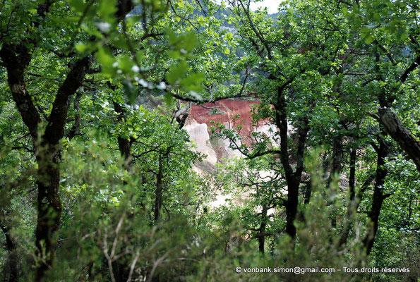 [NU002e-2016-0311] F - 84 - Rustrel - Colorado : Falaise d'ocre blanc
