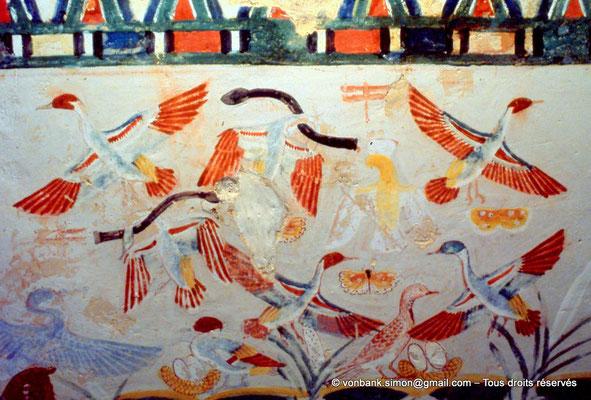 [065-1981-16] TT 52 Nakht : Chasse et pêche dans les marécages (Centre du registre supérieur droit du mur Ouest de la salle transversale)