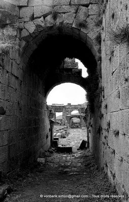 [NB027-1978-04] Khemissa (Thubursicu Numidarum) : Le théâtre, couloir occidental de l'orchestre