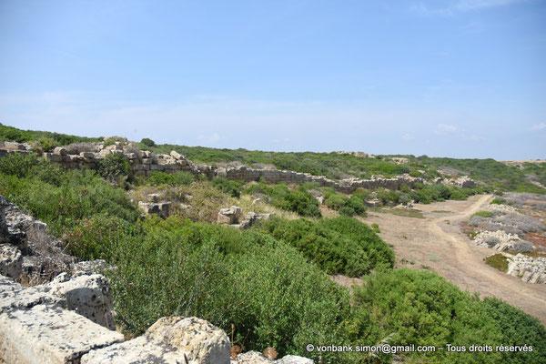 [NU906-2019-1514] Sélinonte : Fortifications extérieures du côté Est (vue prise en direction du Nord)