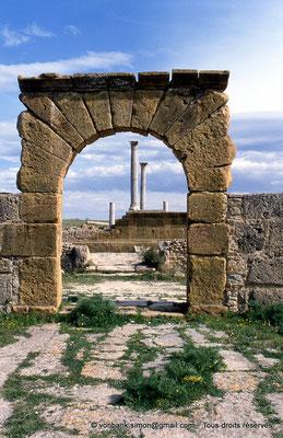 [005-1984-02] Henchir Kasbat (Thuburbo Majus) : Arc et Temple de Baalat