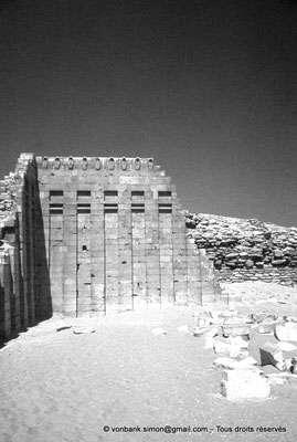 [085-1973-06] Saqqara - Djoser : Mur aux cobras