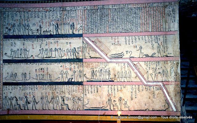 [063-1981-06] KV 34 Thoutmôsis : 3° et 4° Heures de l'Amdouat (chambre funéraire)