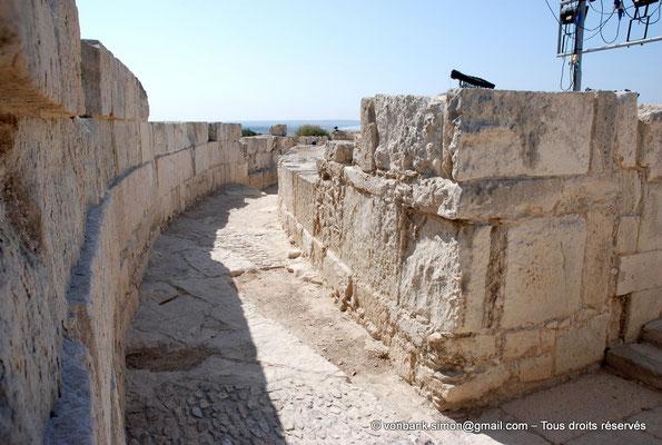 [NU900-2012-016] Kourion (Curium) : Théâtre - Couloir supérieur de circulation d'accès à la cavea