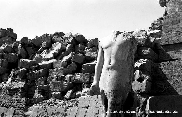 [NB070-1973-26] Karnak - Propylées du Sud : Statue au nom de Ramsès II (face Nord)