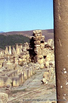 [001-1983-04a] Djemila (Cuicul) : Places des Sévères - Nymphée