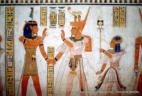 [064-1981-02] QV 44 Khaemouaset : Shou - Ramsès III - Khaemouaset