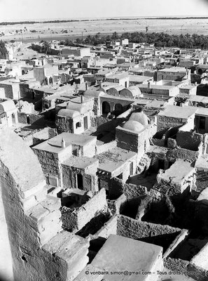 [NB060-1978-25] Temacine-Tamelhat - Village vu depuis le minaret de la mosquée de Si El Hadj Temacine