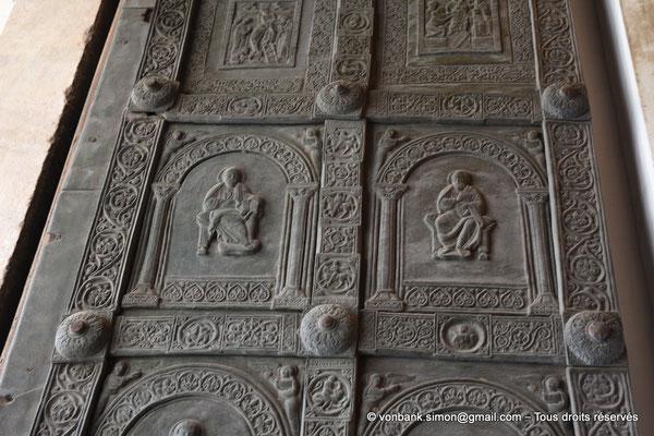 [NU906-2019-1753] Santa Maria Nuova (Monreale) : Deux panneaux de la porte gauche du petit portail Nord (Barisano da Trani XII°)