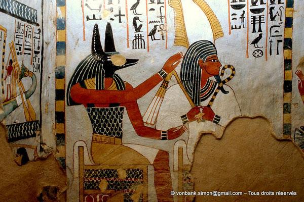 [065-1981-29] TT 96B - Sennefer : Anubis et Osiris (chambre funéraire)