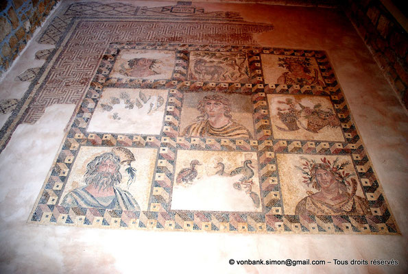 [NU900-2012-050] Paphos (Nea Paphos) : Villa de Dionysos - Mosaïque des Quatre Saisons [3]