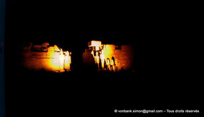 [081-1973-29] Karnak - Son et lumière : Temple de Ramsès III - Façade du temple reposoir