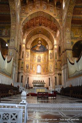 [NU906-2019-1699] Santa Maria Nuova (Monreale) : Christ-Pantokrator - Vierge à l'Enfant (abside centrale)