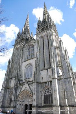 [NU002k-2016-0044] 29 - Quimper - Cathédrale Saint-Corentin : Façade occidentale