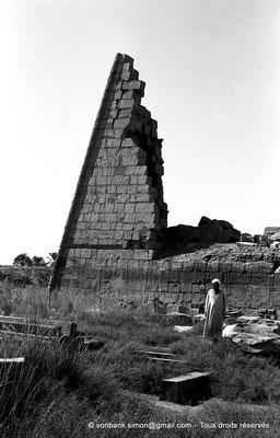 [NB070-1973-16] Karnak - Propylées du Sud : Façade Nord du pylône IX - Môle Est