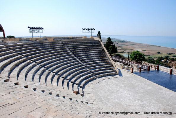 [NU900-2012-017] Kourion (Curium) : Théâtre - Cavea, orchestre et scène (vue partielle)