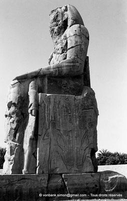 [NB086-1981-11] Temple funéraire d'Amenhotep III : Colosse de Memnon