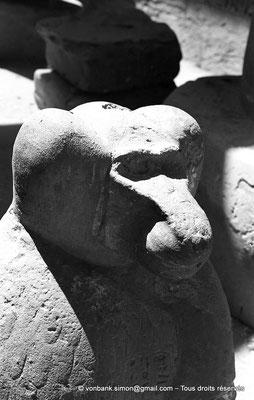 [NB070-1973-76] Karnak - Temple de Khonsou : Statue d'un babouin représentant le dieu Thot (salle hypostyle)