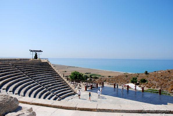 [NU900-2012-026] Kourion (Curium) : Théâtre - Cavea, orchestre et scène (vue partielle)
