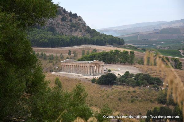 [NU906-2019-1379] Ségeste : Temple inachevé (vue prise en cheminant du Théâtre vers le Temple)