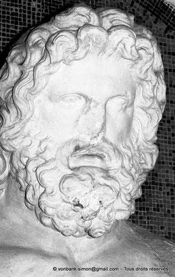 [NB048-1978-16] Guelma (Calama) : Musée - Tête de Jupiter sur fond de tessels couleur or