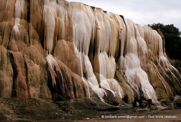 [020-1978-02] Hammam Meskoutine (Aquae Thibilitanae) : Cascade pétrifiée
