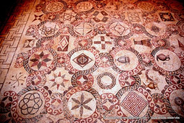 [NU900-2012-059] Paphos (Nea Paphos) : Villa de Dionysos - Mosaïque aux motifs géométriques polychromes [7]
