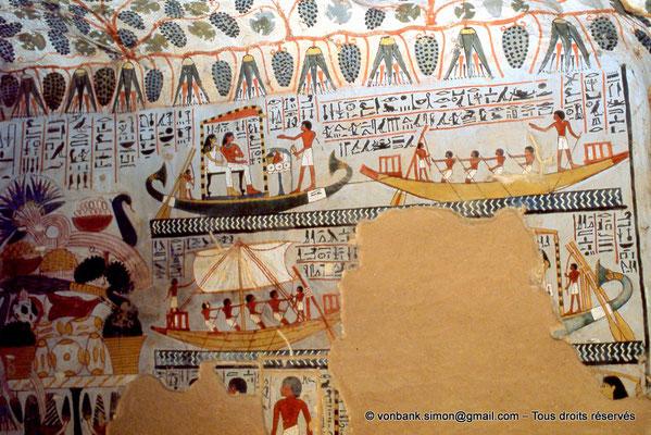 [065-1981-31] TT 96B - Sennefer : Voyage à Abydos (chambre funéraire)