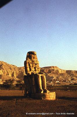 [085-1973-05] Temple funéraire d'Amenhotep III : Colosse de Memnon