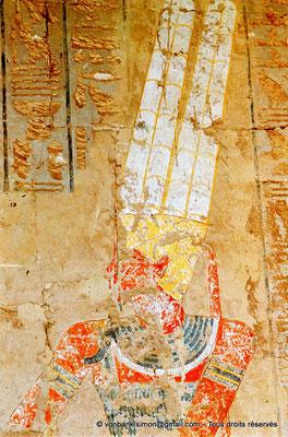 [080-1973-15] Deir el-Bahari : Temple d'Hatchepsout - Amon (Chapelle d'Anubis)