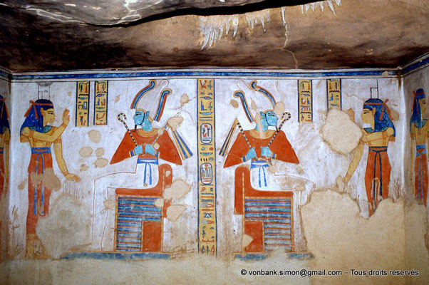 [064-1981-33] QV 44 Khaemouaset : Nephtys - Osiris - Osiris - Isis