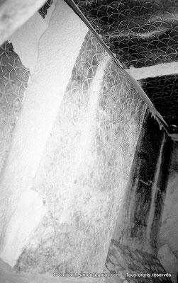 [NB085-1981-47] Saqqara - Teti I : Voûtes étoilées de la chambre funéraire partiellement affaissées