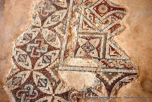 [NU900-2012-011] Kourion (Curium) : Maison d'Eustolios - Détail d'une mosaïque au sol