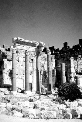 [086-1973-22] Baalbek - Temple de Jupiter : Grande cour (partie Est)