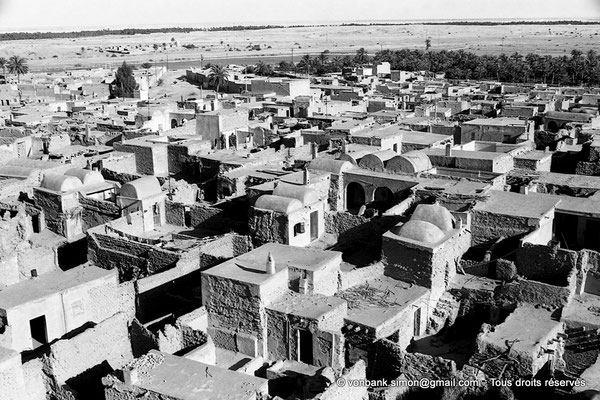 [NB060-1978-24] Temacine-Tamelhat - Village vu depuis le minaret de la mosquée de Si El Hadj Temacine