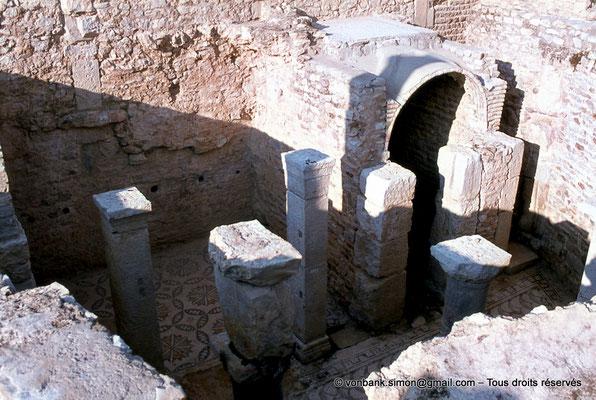 [079-1979-22] Bulla Regia : Douche privée de la maison de la nouvelle chasse (sous-sol)