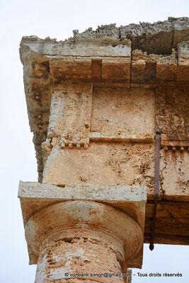 [NU906-2019-1398] Ségeste : Temple inachevé - Face Ouest (détail)