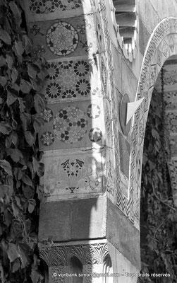 [NB071-1973-32] Damas - Qasr Al-Azm : Détail d'un portique